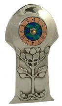 Archibald Knox No' 14 Pewter and Enamel Clock